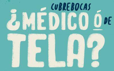 ¿Cubrebocas Médico o de Tela?